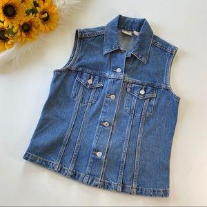 Vintage Levis Red Tab Blue Denim Jean Vest Jacket